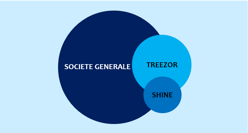 Possible post acquisition structure of SocGen with Treezor and Shine